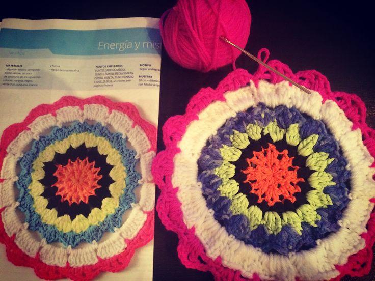 Mandala tejido Crochet
