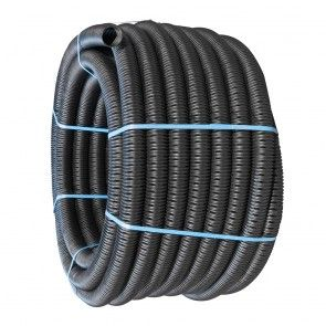 60mm x 50m Fully Perforated Land Drain Pipe