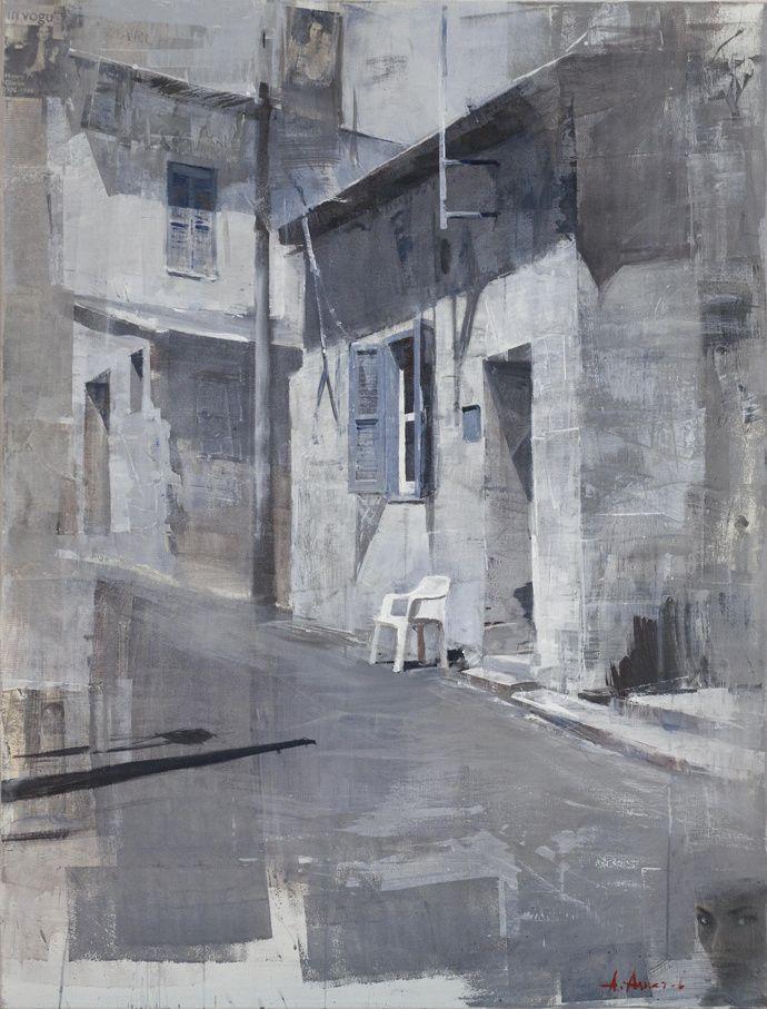 Alexey Alpatov, limassol, 2009 - mixed media on canvas, 170/130cm