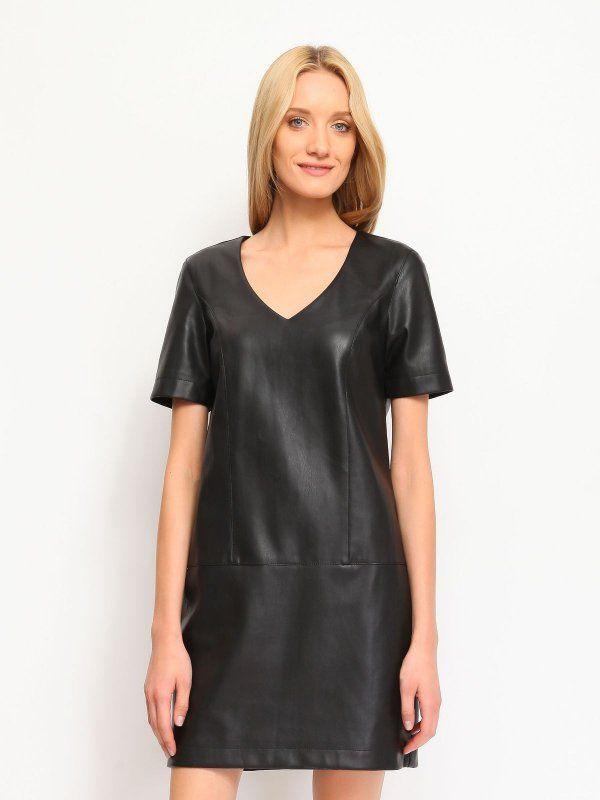 sukienka damska gładka czarna - SSU1434 TOP SECRET