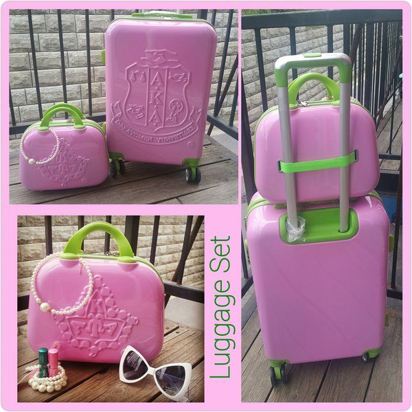 Alpha Kappa Alpha Sorority Carry on Luggage