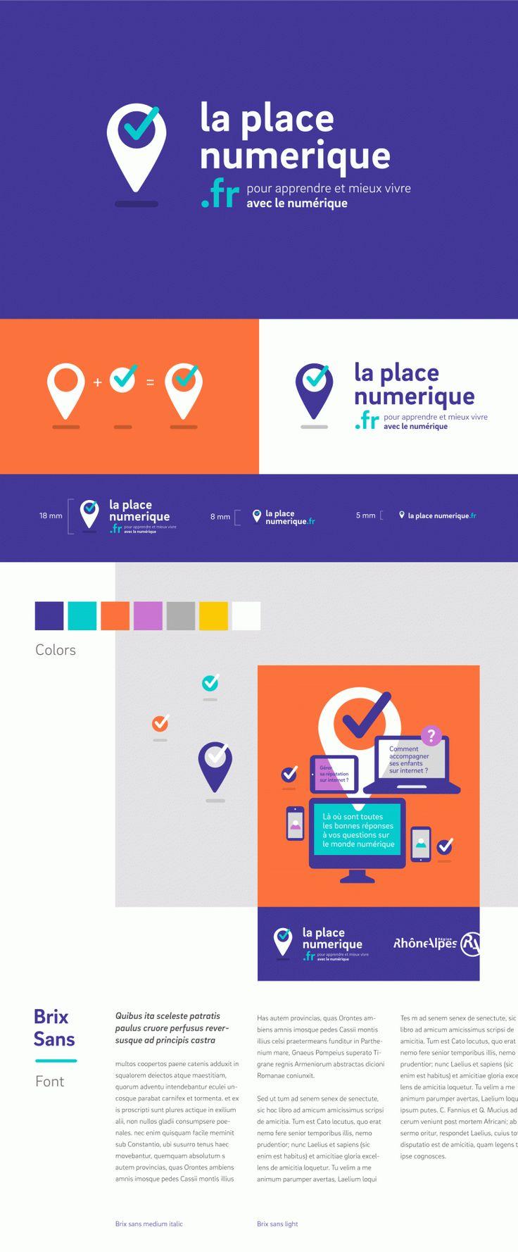 Logo Branding, webdesign minimal flat design laplace-numerique-web  http://www.grapheine.com/portfolio/la-place-numerique