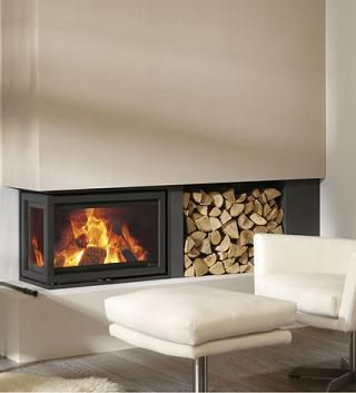 92 best modern wood stoves and inserts images on pinterest Contemporary wood burning fireplace inserts