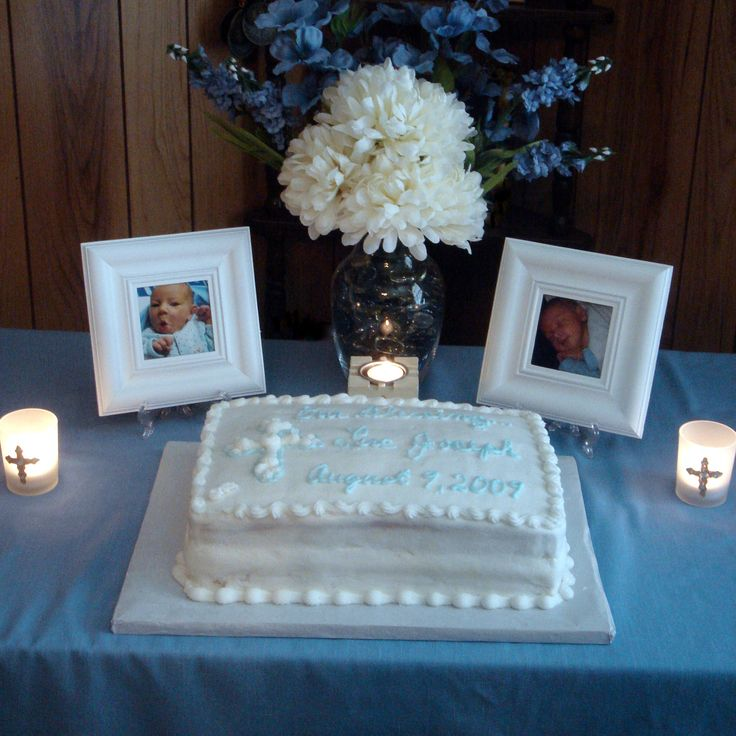 Here we go...simple, elegant, doable....thinking blue hydrangea, bells of ireland with baby's breath flowers and more exciting cake...but, like itBaptism Party Centerpiece - Bing Images