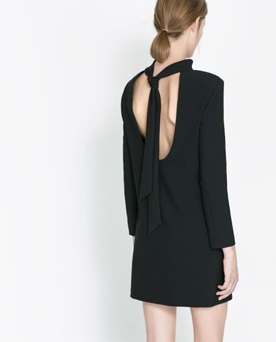 DRESS WITH BOW AT THE BACK - Dresses - Woman - New collection   ZARA Portugal