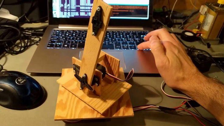 Simple gun turret model with arduino