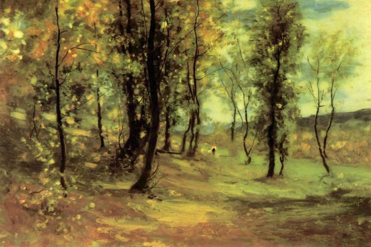 Nicolae Grigorescu, Clearing (1896), oil on canvas, 54.5 x 81.5 cm, National Museum of Art of Romania, Bucharest.