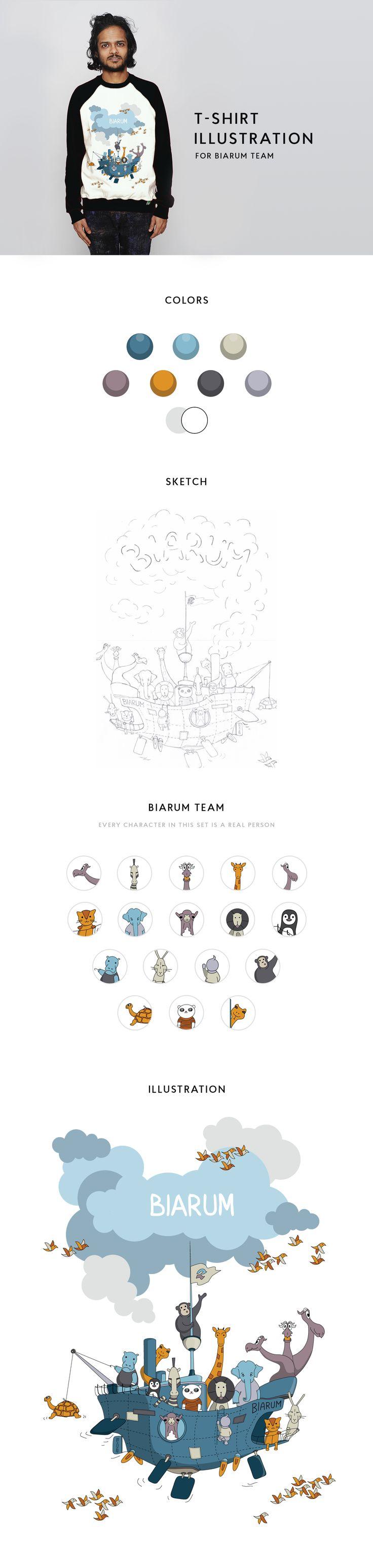 T-shirt illustration for Biarum team