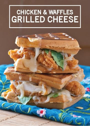 Transform the uniquely delicious flavor of chicken and waffles into an adult- and kid-friendly grilled cheese sandwich. This quick and easy recipe is a great way to feed a crowd, so save it for the holidays when you have a houseful of holiday visitors hungry for lunch.