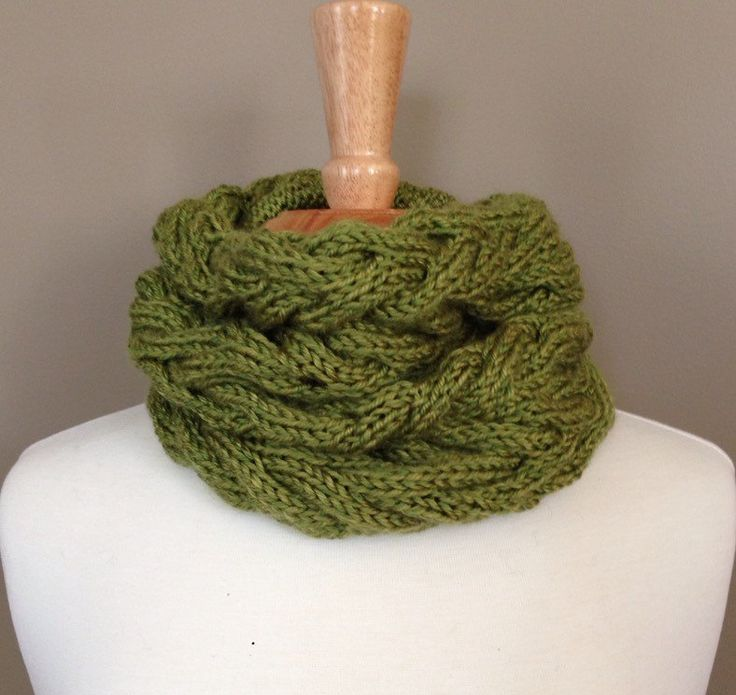 The Vineyard Cowl - Green by KnotYourAvgKnits on Etsy
