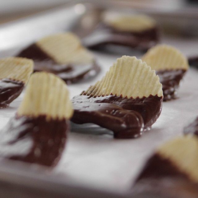 Chocolate-Covered Potato Chips By Ree Drummond