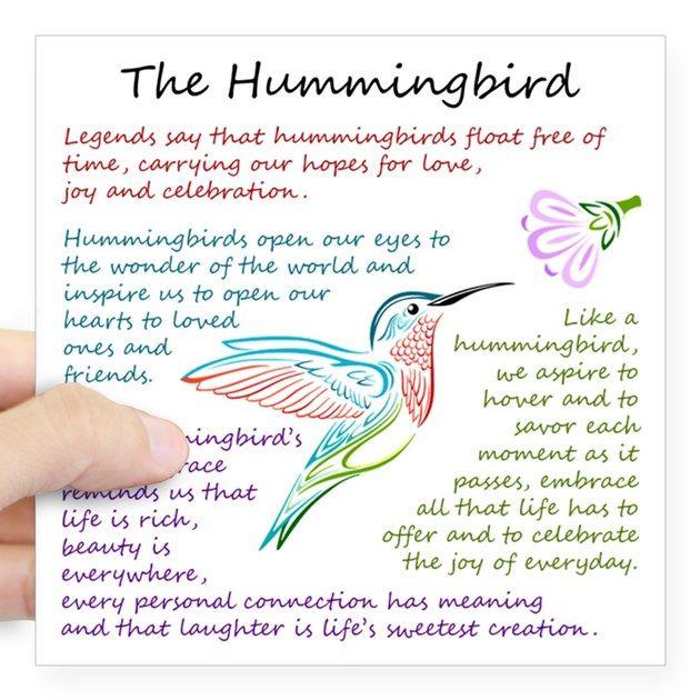 The Hummingbird Square Sticker 3 X 3 The Hummingbird Sticker By Mightyawesomedesign Hummingbird Quotes Hummingbird Hummingbird Symbolism