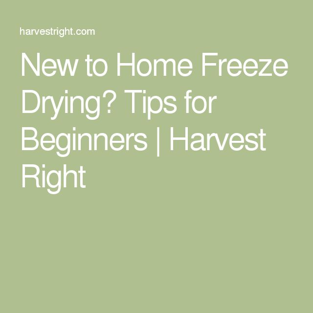 New to Home Freeze Drying? Tips for Beginners | Harvest Right