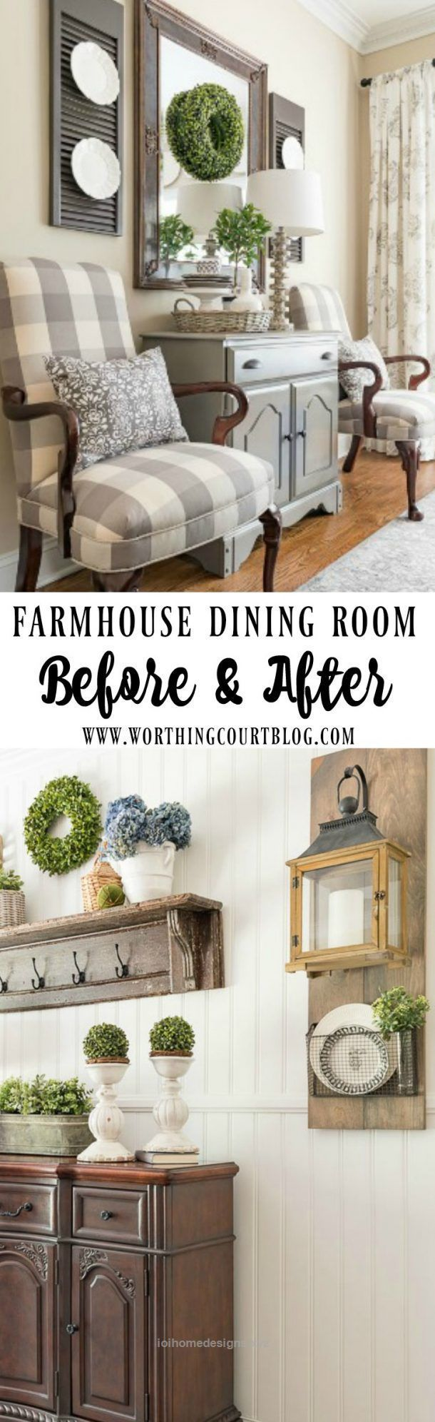Cool Farmhouse Dining Room Makeover Reveal – Before And After  The post  Farmhouse Dining Room Makeover Reveal – Before And After…  appeared first on  I.O.I Designs .
