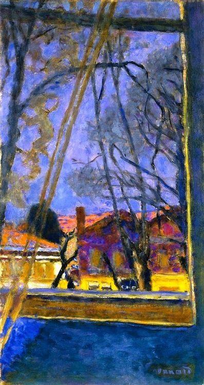 Paysage à travers la fenêtre. / Landscape through the window. / By Pierre…