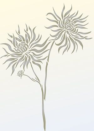 spider mum silhouette - Google Search