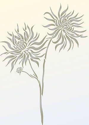 Chrysanthemum Stencil 2 for Walls