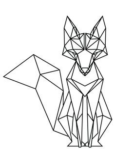 best 25 geometric fox ideas on pinterest geometric animal low poly and fox drawing. Black Bedroom Furniture Sets. Home Design Ideas