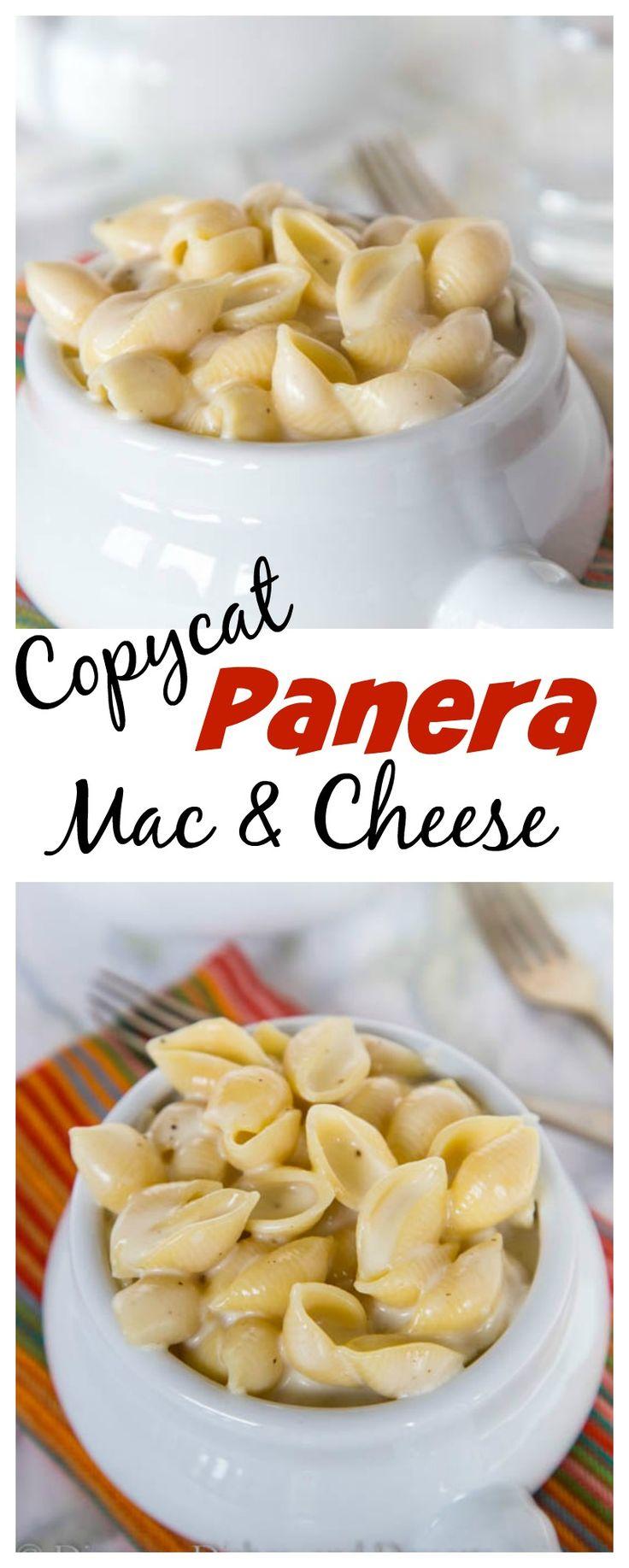 Copycat Panera Mac and Cheese – homemade macaroni and cheese that tastes just…