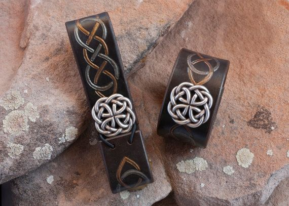 Celtic infinity knot tankard from and cuff set from The Velvet Republic.