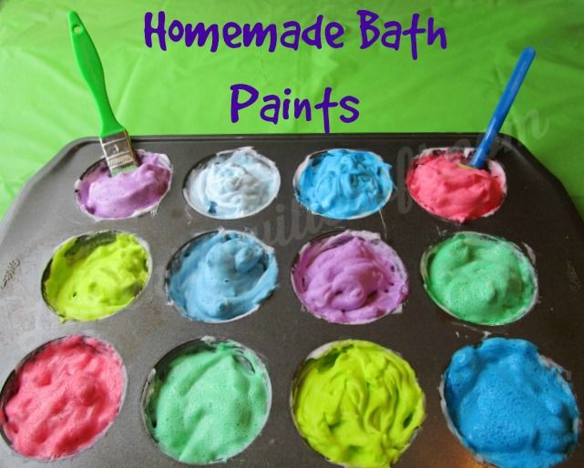 Get Clean While Getting Messy! Homemade Bath Paints  