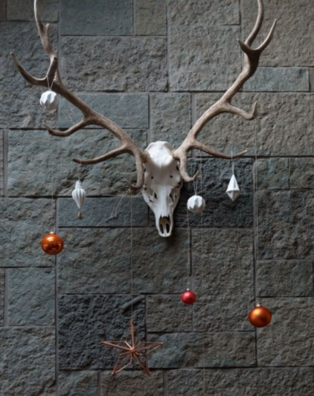 "This decorated deer head is from our feature ""Festive Looks"""