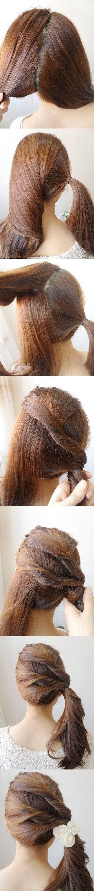 Like the idea but I wouldn't just leave it in a pony tail.