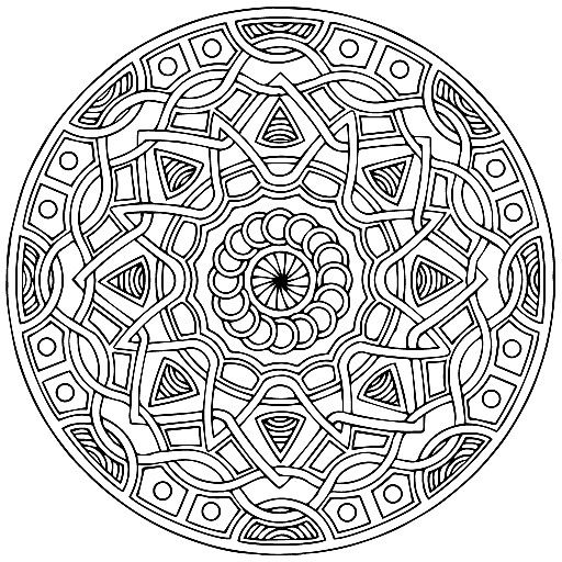 mandala coloring pages as therapy - photo#9