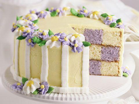 Pastel Checkerboard Cake