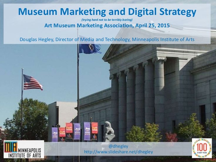 Slide deck from presentation to the Art Museum Marketing Association meeting on April 25, 2015. Topics included digital strategy, audience engagement, marketin…