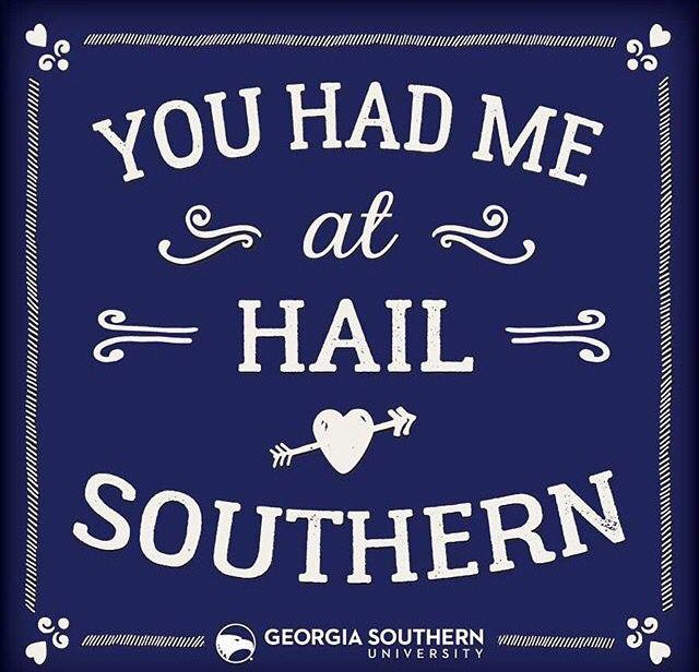 Hail Southern GSU Georgia Southern University Valentines