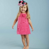 ruffle dress: Little Dresses, Wedding Dressses, Little Girls, Birthday Parties, Hot Pink, Ruffles Dresses, Baby Girls Clothing, Mud Pies, Chiffon Ruffles