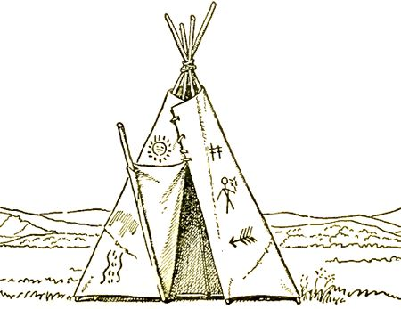 Teepee Drawing : How to Draw Native American Teepees Step ...