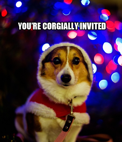 10 Perfect Corgi Invitations For Any Party.  @Shelley Paclik...you need to go look at these