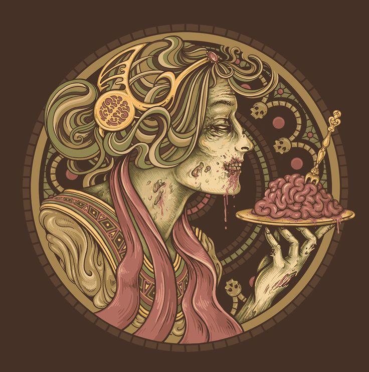 Enkel Dika: Tattoo Ideas, Art Nouveau, Enkel Dika, Illustrations, Bon Appetit, Art Prints, Artsy Fartsi, Zombies Art, Tables Manners