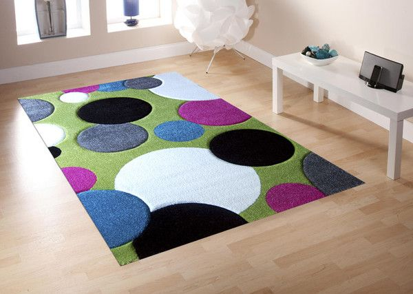 Splash Carved Kid S Rug 790 In Green