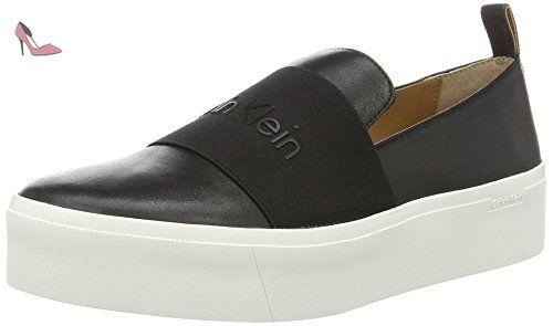 Calvin Klein Jacinta Cervo/Elastic, Chaussons Montants Femme, Noir (Black), 39 EU - Chaussures calvin klein (*Partner-Link)
