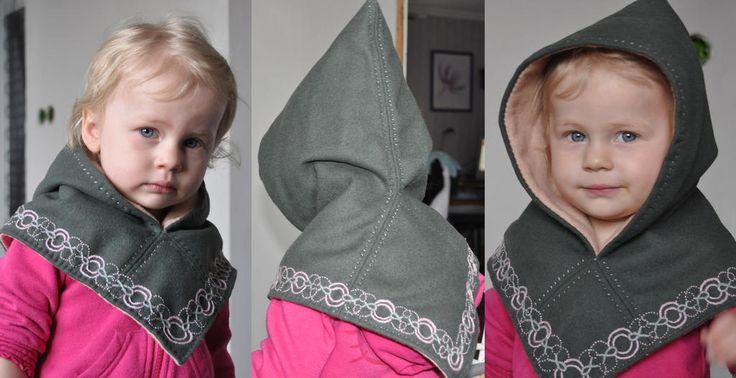 gorgeous child version of the Sköldehamn hood by Katarina Hjältman