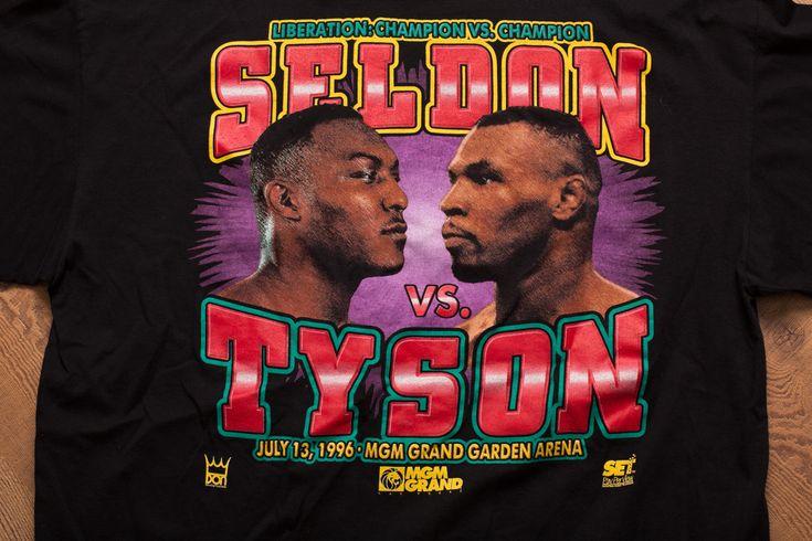 Vintage 90s Bruce Seldon vs Mike Tyson T-Shirt, 1996 Boxing Match Fight, MGM Grand, Las Vegas