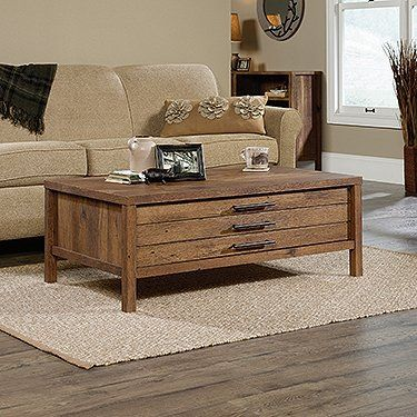 Sauder New Grange Storage Coffee Table in Vintage Oak For Sale https://bestsofatablereviews.info/sauder-new-grange-storage-coffee-table-in-vintage-oak-for-sale/