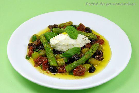 Salade d'asperges vertes