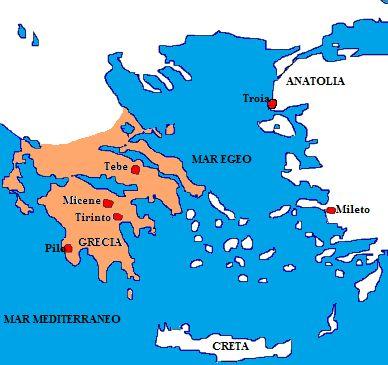 TOUCH questa immagine: I Micenei (2000 a. C. - 1200 a. C.) by Luigi Carbone
