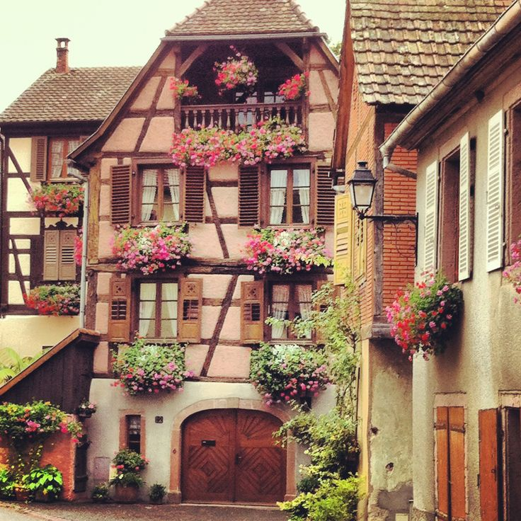 Hunawihr, France. Listed as one of the most beautiful villages in France. Alsace-Lorraine. 2012-2013.