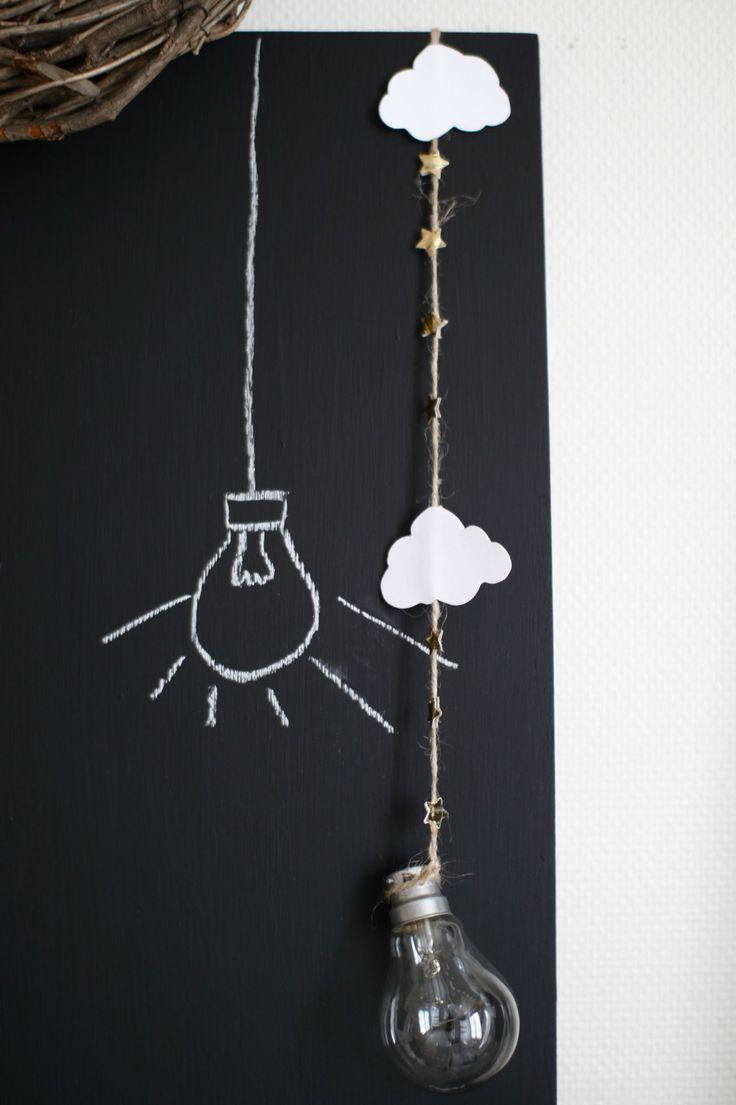 Chalkboard light bulb