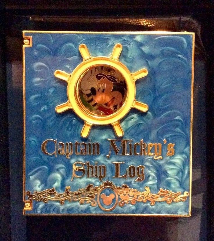 DCL CRUISE LE 500 JUMBO CAPTAIN MICKEY'S SHIP LOG BOOK STITCH DISNEY PIN IN BOX