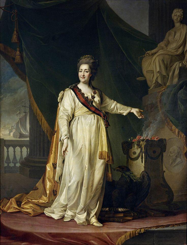 Dmitry Levitsky - Portrait of Catherine II the Legislatress in the Temple of the Goddess of Justice - Google Art Project - Portraits of Catherine II of Russia - Wikimedia Commons