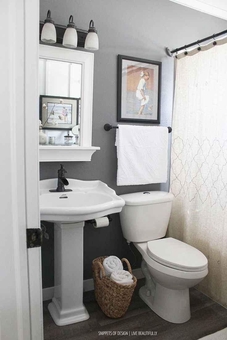 15 Gorgeous Small Bathroom Decor Ideas | DIY Board | Pinterest ...