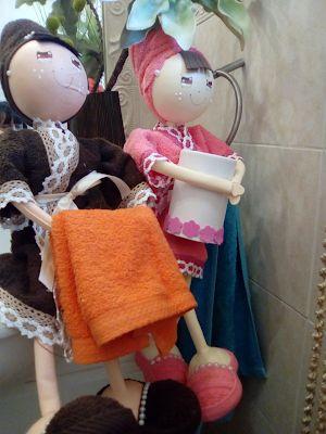 O Estaminé da Xé: Bonecas porta rolo papel higienico varias cores, c...