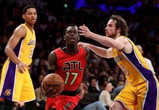 Blog Esportivo do Suíço:  Sem Kobe, Lakers não resistem e perdem em casa para os Hawks