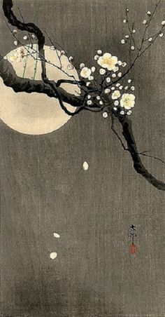 Ohara Koson artist  ' Along this road, going with no one, autumn evening' - Matsuo Basho'